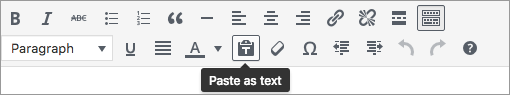 Editing tips - paste as text