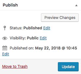 editing tips - publishing status